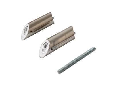 Ручка для алюминиевых дверей со смещением, L=800, межосевое расстояние=600, D=32, полированная, (1 шт. с 1 креплением, для односторонней установки приобретать с ITM0400) Изображение 5