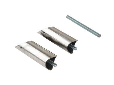 Ручка для алюминиевых дверей со смещением, L=800, межосевое расстояние=600, D=32, полированная, (1 шт. с 1 креплением, для односторонней установки приобретать с ITM0400) Изображение 4