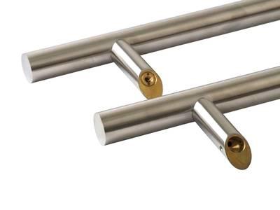 Ручка для алюминиевых дверей со смещением, комплект с креплением, L= 500, м/о= 300, D32, матов. Изображение 2