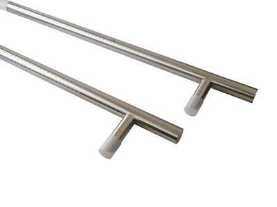 Ручка для алюминиевых дверей со смещением, комплект с креплением L= 1400, м/о 1200, D=32, перф. Изображение 3