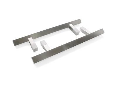 Прямоугольная ручка скоба дверная Medos KW 45° (D=35x35 мм, 300 мм, L=500 мм, матовая) [114.KW.300.45] Изображение
