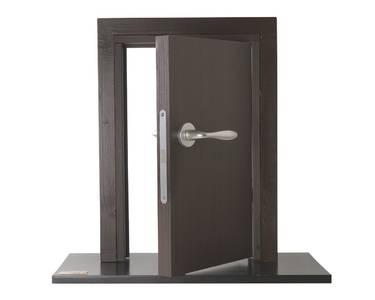 Ручка дверная алюминиевая New York, c раздельной накладкой, алюминий натуральный Изображение 4
