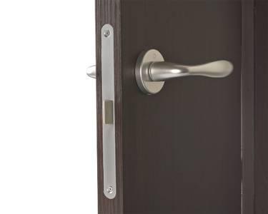 Ручка дверная алюминиевая New York, c раздельной накладкой, алюминий натуральный Изображение 5