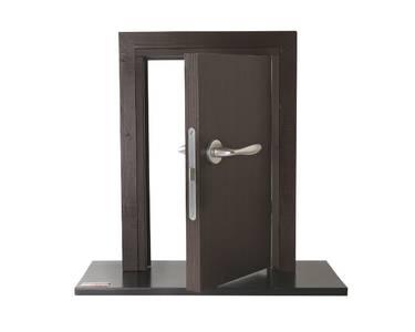 Ручка дверная алюминиевая New York, c раздельной накладкой, алюминий натуральный Изображение 6