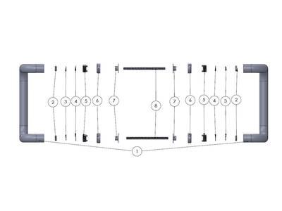 Ручка дверная изогнутая Elementis, белая, 40-90мм Изображение 2