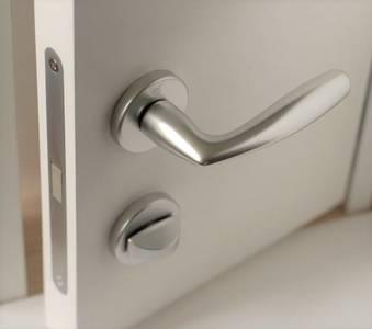 Ручка дверная латунная Vitoria, с раздельной накладкой, хром сатинированный Изображение 6