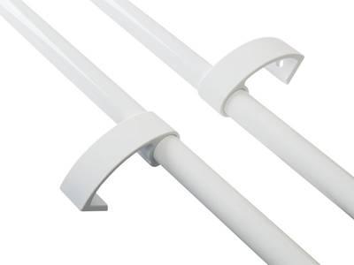 Ручка дверная прямая Elementis 1800мм с 3 креплением, белый Изображение 2