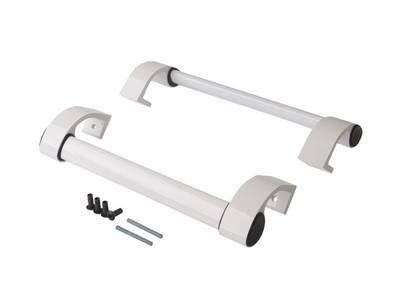 Ручка дверная прямая межосевое расстояние 350 мм с креплениями (58-72 мм) цвет: белый Изображение 8