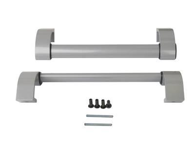 Ручка дверная прямая межосевое расстояние 350 мм с креплениями (58-72 мм) цвет: серебристый Изображение