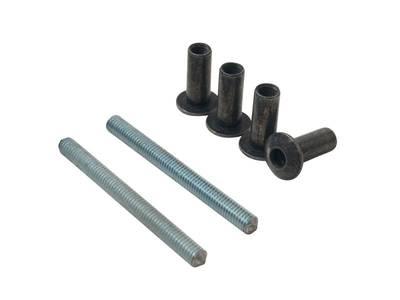 Ручка дверная прямая межосевое расстояние 350 мм с креплениями (58-72 мм) цвет: серебристый Изображение 3