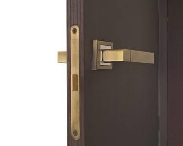 Ручка дверная с раздельной квадратной накладкой, City Dakota, античная бронза Изображение 2