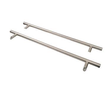 Ручка для алюминиевых дверей со смещением, комплект с креплением, L=1000, межосевое расстояние=800, D=32, 114.SS.800.45, матовая Изображение 4