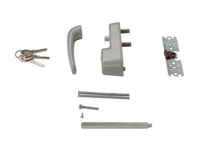 Ручка наружная для системы антипаника с профильным цилиндром (ключом), серебро Изображение 3