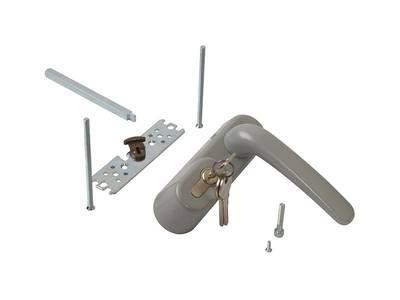 Ручка наружная для системы антипаника с профильным цилиндром (ключом), серебро Изображение 4