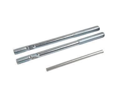 Ручка офисная изогнутая 300мм с креплением белый, до 80мм. Изображение 4