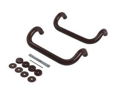 Изогнутая ручка скоба дверная FIRT (D=30 мм, 300 мм, коричневый) Изображение