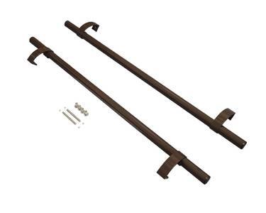 Ручка офисная прямая 1000 мм с креплением, коричневый Изображение 3