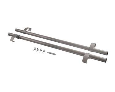 Ручка офисная прямая 1000мм с креплением Серебро RAL9006 Изображение