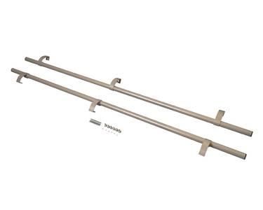 Ручка офисная прямая 1800мм с креплением Серебристая RAL9006 Изображение 3