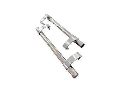 Прямоугольная ручка скоба дверная (D=32 мм, изменяемое м.о., нержавейка + хром) Изображение 2