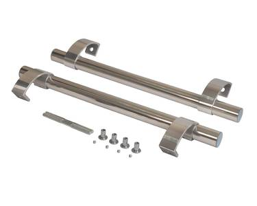 Прямоугольная ручка скоба дверная (D=32 мм, измен. м.о., нержавейка + хром) Изображение