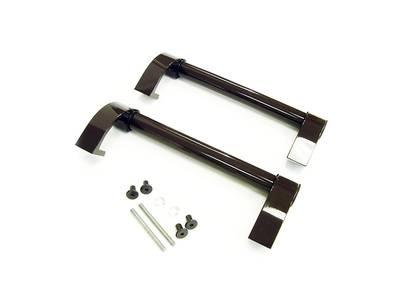 Прямоугольная ручка скоба дверная Elementis (D=30 мм, 300 мм, коричневый) Изображение