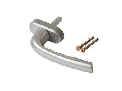 Ручка оконная Internika Dresden 35 мм, алюминиевая, серебро, 2 винта Изображение 3