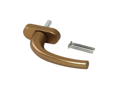 Ручка оконная Internika Pushkin 35 мм, алюминиевая, бронза, 2 винта 5х45 Изображение 3