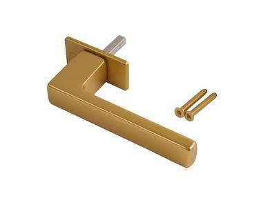 Ручка оконная алюминиевая HOPPE Austin, штифт 37 мм, 45°, 2 винта М5х40, золото матовое Изображение 4