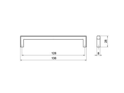 Ручка-скоба 128мм, титан Изображение 5