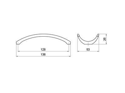 Ручка-скоба 128мм, шлифованный никель Изображение 5