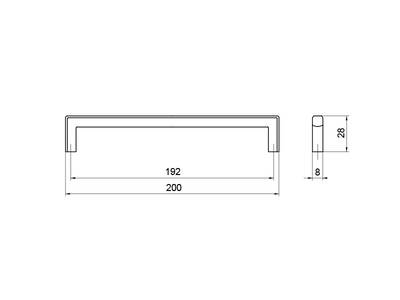 Ручка-скоба 192мм, хром Изображение 5