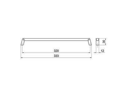 Ручка-скоба 320мм, шлифованный никель Изображение 5
