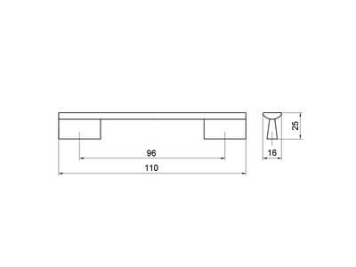 Ручка-скоба 96мм, хром Изображение 5