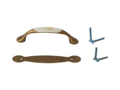 Ручка-скоба FIRMAX, металл+керамика, бронза Изображение 2