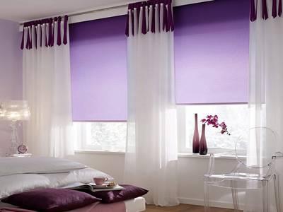 Рулонные шторы однотонные, 140х170 см. Фиолетовый Изображение 2