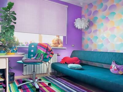 Рулонные шторы однотонные, 140х170 см. Фиолетовый Изображение 3