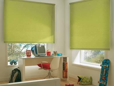 Рулонные шторы однотонные, 140х170 см. Салатовый Изображение 2