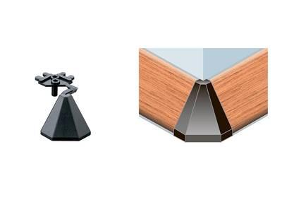 Угловой соед. элемент треугольного пристеночного бортика SCILM 90° [внешний угол] (H=30 мм, пластик, серый) Изображение 4
