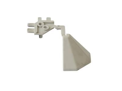 Угловой соед. элемент треугольного пристеночного бортика SCILM 90° [внешний угол] (H=30 мм, пластик, серый) Изображение 3