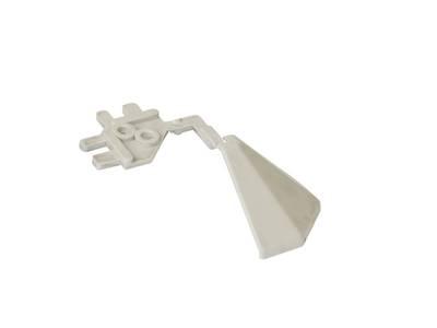 Угловой соед. элемент треугольного пристеночного бортика SCILM 90° [внешний угол] (H=30 мм, пластик, серый) Изображение 2