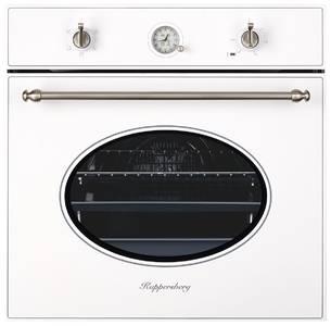 SR 605 W Silver Электрический независимый духовой шкаф, цвет белый(эмаль) / ручка дверцы и переключатели цвета серебро Изображение