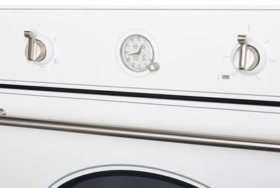 SR 605 W Silver Электрический независимый духовой шкаф, цвет белый(эмаль) / ручка дверцы и переключатели цвета серебро Изображение 3
