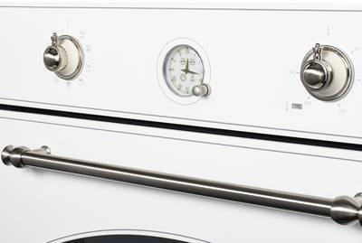 SR 609 W Silver Электрический независимый духовой шкаф, цвет белый(эмаль) /ручка дверцы и переключатели цвета серебро Изображение 3