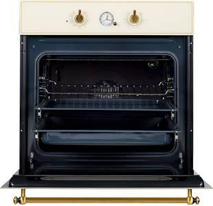 SR 663 C (BRONZ) Электрический независимый духовой шкаф, цвет бежевый/ручка дверцы и переключатели цвета бронзы Изображение 2