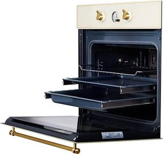 SR 663 C (BRONZ) Электрический независимый духовой шкаф, цвет бежевый/ручка дверцы и переключатели цвета бронзы Изображение 3