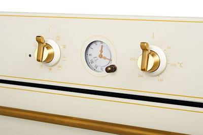 SR 663 C (BRONZ) Электрический независимый духовой шкаф, цвет бежевый/ручка дверцы и переключатели цвета бронзы Изображение 4