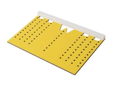 Шаблон для разметки отверстий под мебельные ручки-кнопки и ручки-скобы (96,128,160,192мм ), МШ-22 Изображение 2