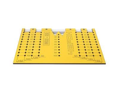 Шаблон для разметки отверстий под мебельные ручки-кнопки и ручки-скобы (96,128,160,192мм ), МШ-22 Изображение 3