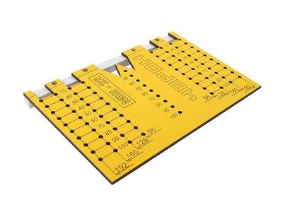 Шаблон для разметки отверстий под мебельные ручки-кнопки и ручки-скобы (96,128,160,192мм ), МШ-22 Изображение 5